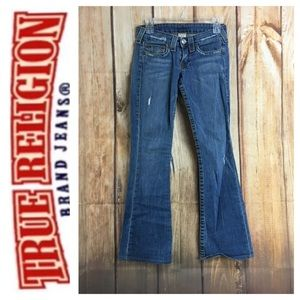 💸True Religion Bobby Bootcut distressed jean